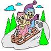 子供のぬりえ - かわいい漫画3