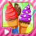 Sugar Cone Creator  - Soft Creamy Ice Cream dessert  on sunny beach