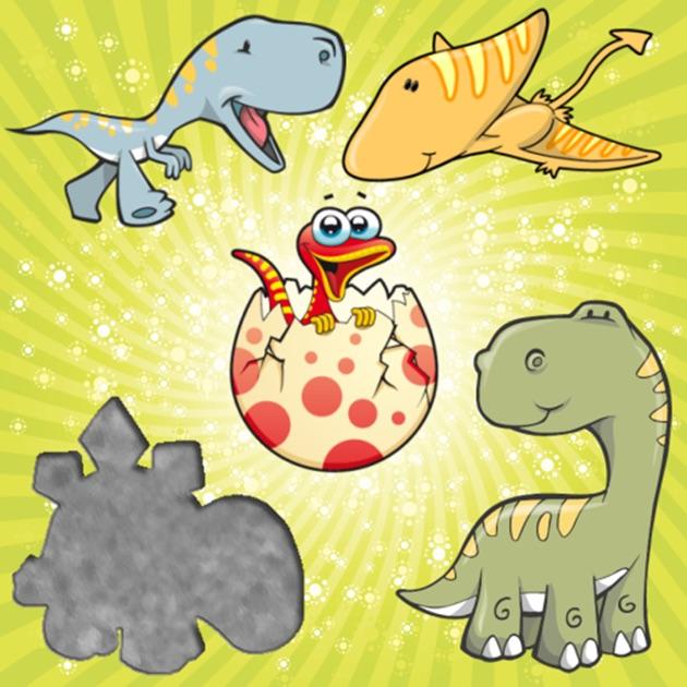 Rompecabezas de los dinosaurios para los ni os peque os y - Puzzles para ninos pequenos ...