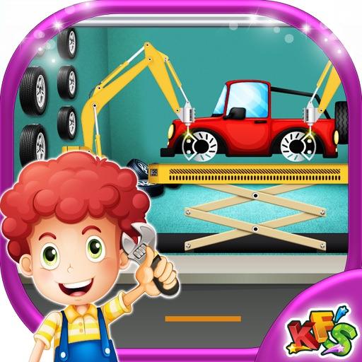Детский ремонт авто гараж - дизайн, художественное оформление и исправить автомобили в этой игре механика