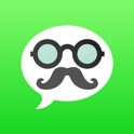 Mustache Private Texting - send text & sms with a new free phone number, ideal for safe messaging icon