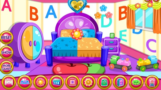 Twin baby room decoration game Screenshot