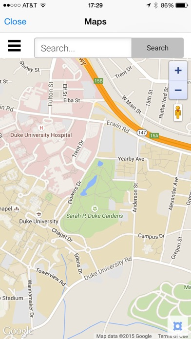 DukeMobile On The App Store - Us open tennis map