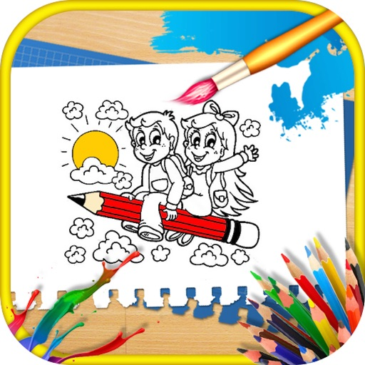 Sparkling Color Paint Book for Toddlers iOS App