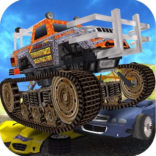 Sturdy Monster Truck Tank Car Crush iOS App