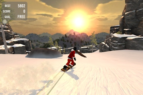 Crazy Snowboard Free screenshot 1