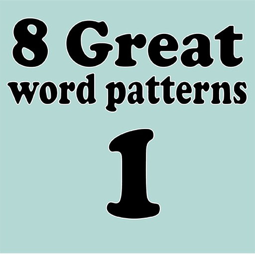 8 Great Word Patterns Level 1 iOS App