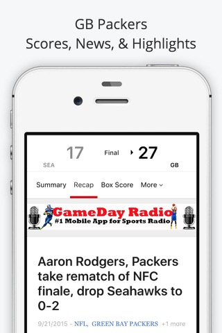 Green Bay GameDay Live Radio – Packers & Bucks Edition screenshot 4
