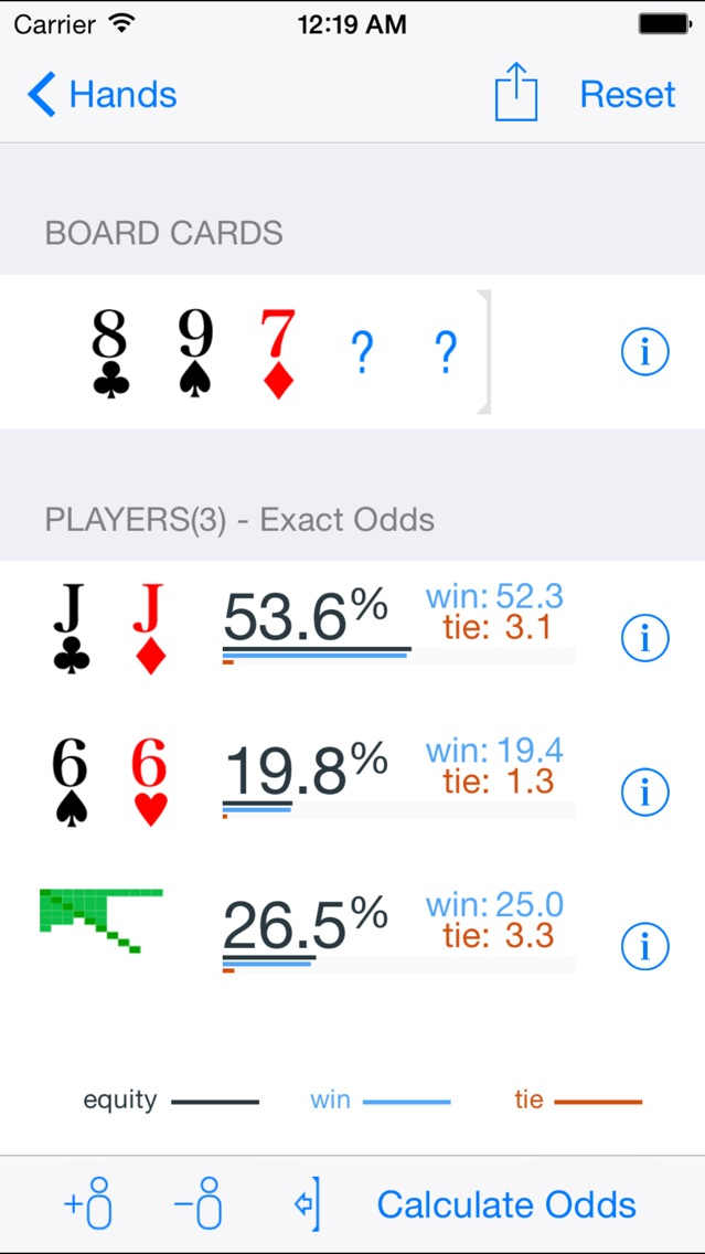 Poker Odds Pro screenshot1