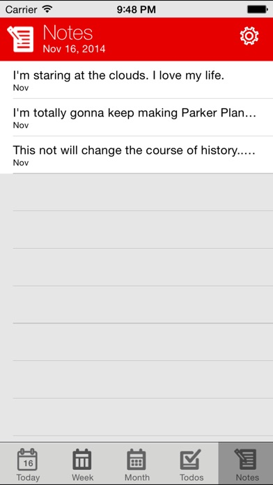 Parker Planner Classic (old version) Screenshot