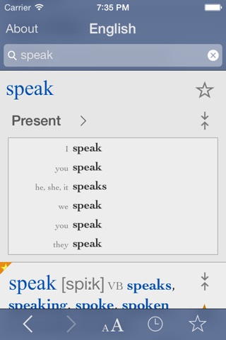 English Dictionary and Thesaurus with Verbs screenshot 2