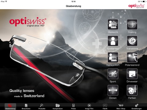 Optiswiss Screenshot