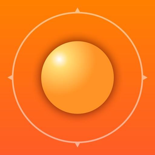 Deluxe Sun - sunrise, sunset, twilight and compass iOS App