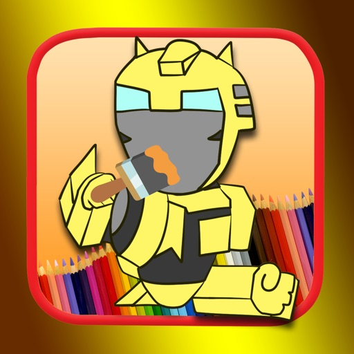 Painting coloring games kids transformers edition iOS App