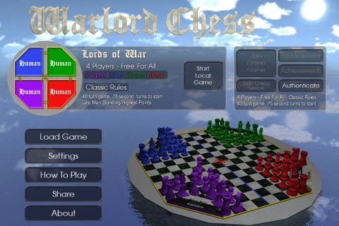 Warlord Chess screenshot 1