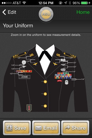 ‎iUniform ASU - Builds Your Army Service Uniform on the ...