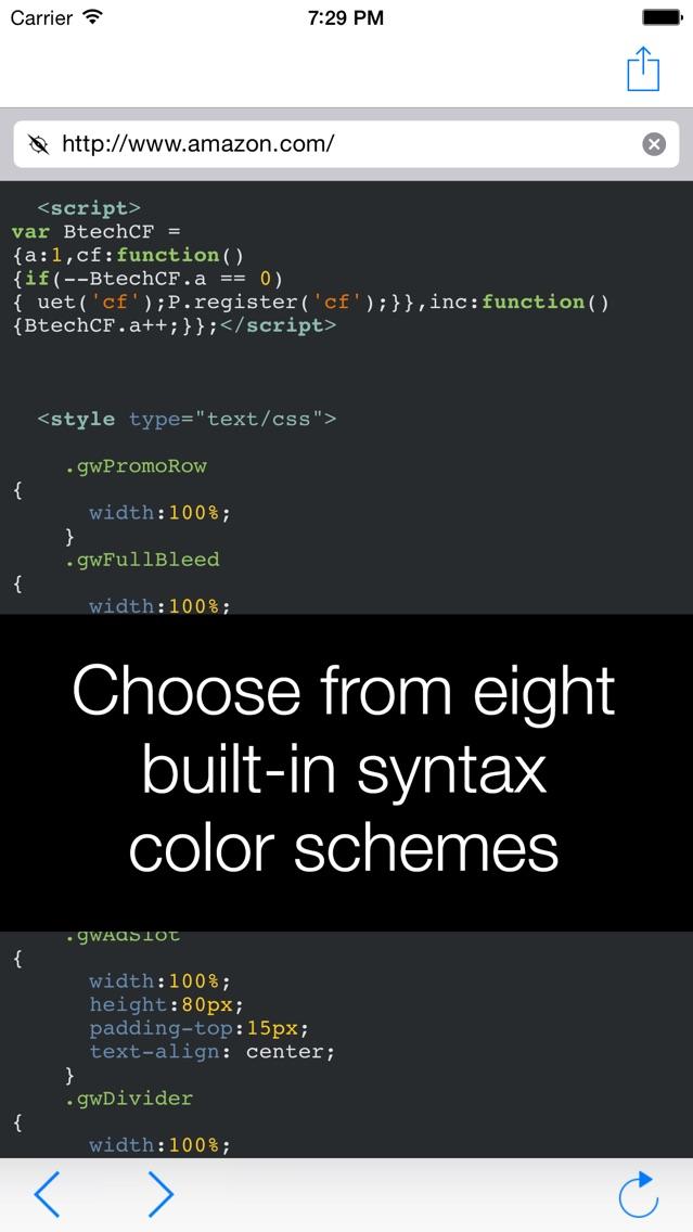 View Source – HTML, J... screenshot1