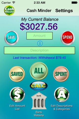 Cash Minder screenshot 1