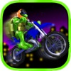 A Turtle Motorcycle Race vs. Mutant Ninja Warriors - Free!