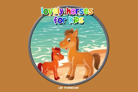 lovely horses for kids - free game screenshot 1
