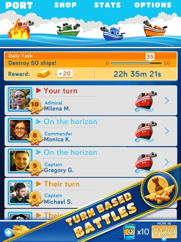 BattleFriends Refueled: Морской бой для iPad