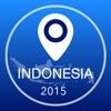 Indonesien Offline Karte + Stadtführer Navigator, Sehenswürdigkeiten und Verkehr