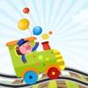 Aktiv! Sortieren Nach Größe Spiel Für Kinder Zum Lernen und Spielen Mit den Tieren in einem Zug