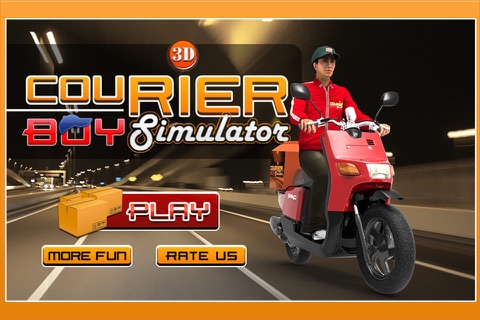 3D Courier Boy Simulator - Best courier, postal service and rider simulation game screenshot 1
