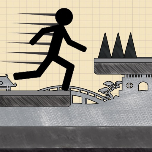 Stickman Jump - Free Addictive Extreme Fun Doodle Runner and Jumper game iOS App
