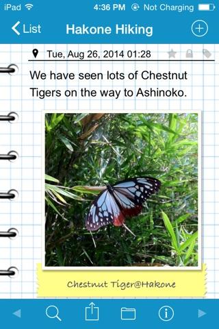 RainbowNote Lite: notebook/diary with photo calendar screenshot 1