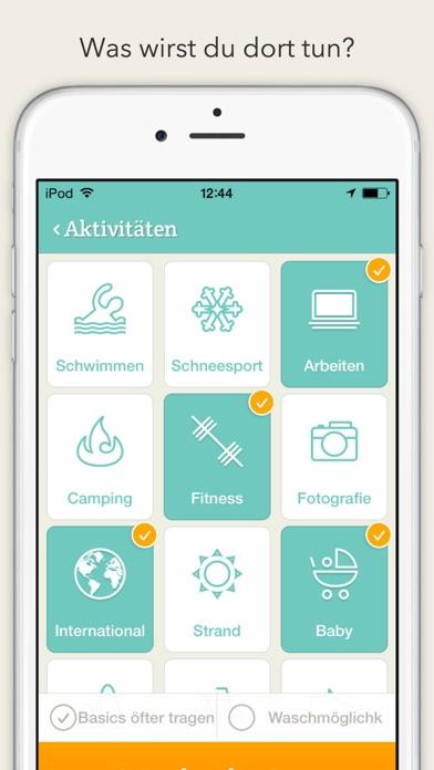 PackPoint Packlisten helfer für Reisen Screenshot
