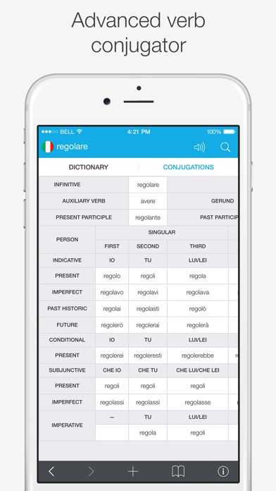 Italian – English Dictionary Screenshots