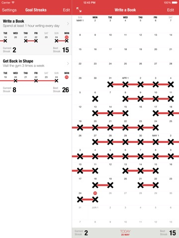 Goal Streaks - Daily Goals & Habits Tracker Screenshot