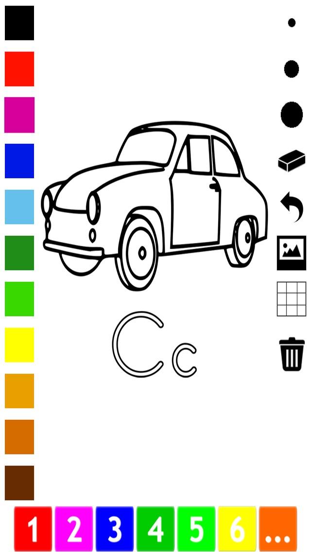 download Abc Livre à colorier pour les tout-petits: Apprendre à écrire et dessiner les lettres de l'alphabet en anglais avec de nombreuses photos pour l'école, préscolaire et à la maternelle apps 1