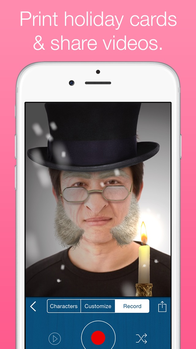 Santify - Make yourself into Santa, Rudolph, Scrooge, St Nick, Mrs. Claus or a Christmas ElfScreenshot of 4