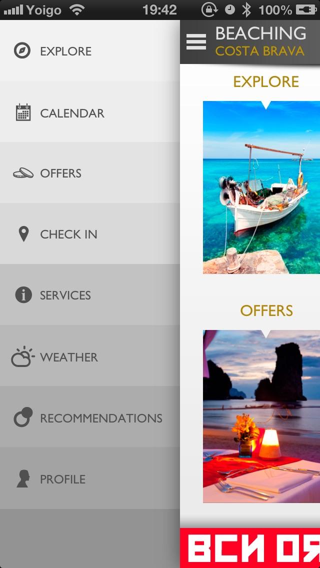 Screenshot of Beaching App Costa Brava2