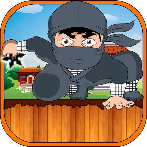 Fat Ninja Rope Adventure - Magnetic Pick and Collect Shurikens FREE by Happy Elephant iOS App