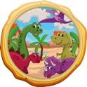 Dinossauros Mundo Crianças Puzzle icon