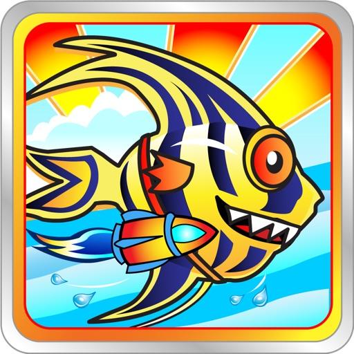 Rocket Angel Free - An endless jetpack fish clash