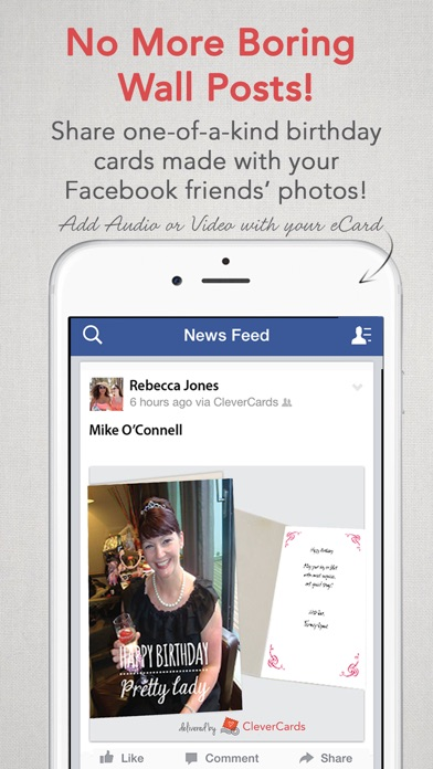 CleverCards Greeting Cards eCards for Facebook on the App Store
