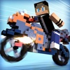 Blocky Motorbikes . Crazy GP Motorbike Racing Game for Kids 3D