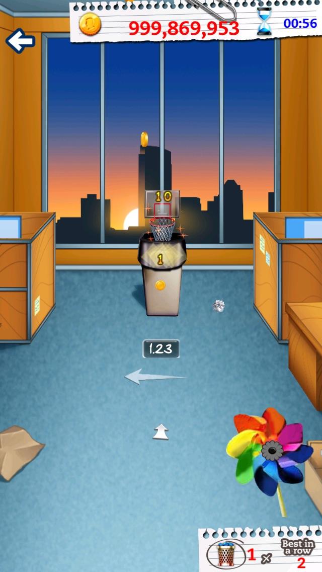 Screenshot of Basket Paper Flick Pocket Pro - La Top Basket tiro libero gioco della galleria5