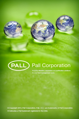 Pall Corporation screenshot 1