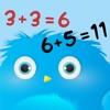 Furry Math Friends - 數學的兒童遊戲。學習代數,計算和另外的幼兒園,幼兒園或學校。練習來算,計算並添加。免費,有趣,益智!