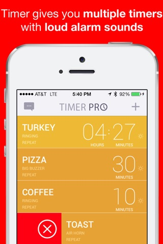 Timer Pro Countdown with Multiple Loud Alarm Timers for Everyday Cooking, Fitness, Timeout screenshot 1