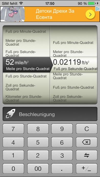Screenshot von Konverter Kostenlos : Metrisch, Währungs-und Einheitenrechner für iPad3