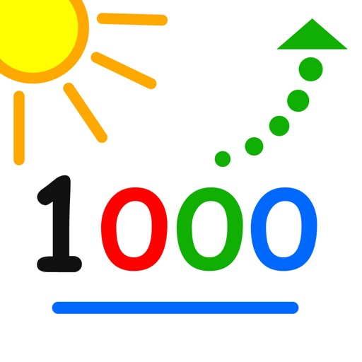 Count up to 1000 - by LudoSchool iOS App