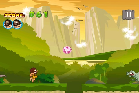 A Caveman's Dinosaur Escape : Run to the Rescue screenshot 3