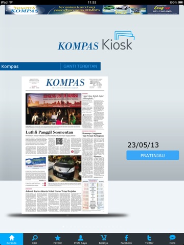 Kompas Kiosk iPad