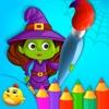Halloween Doodle Coloring